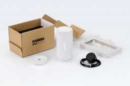 FABRIQ Speaker Amazon Packaging Design by Shape Products