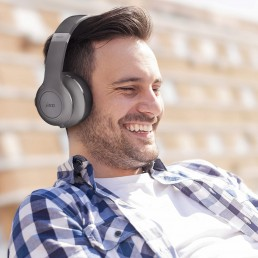 Man enjoying Jam headphones
