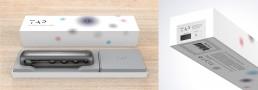 TAP Wearable Wireless Keyboard & Mouse Box Packaging